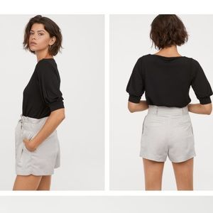 H&M Creped Black Top- New without tags